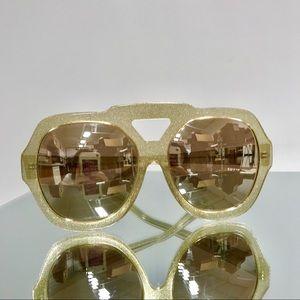 ✨Karen Walker Gold Glitter Oversized Sunglasses✨